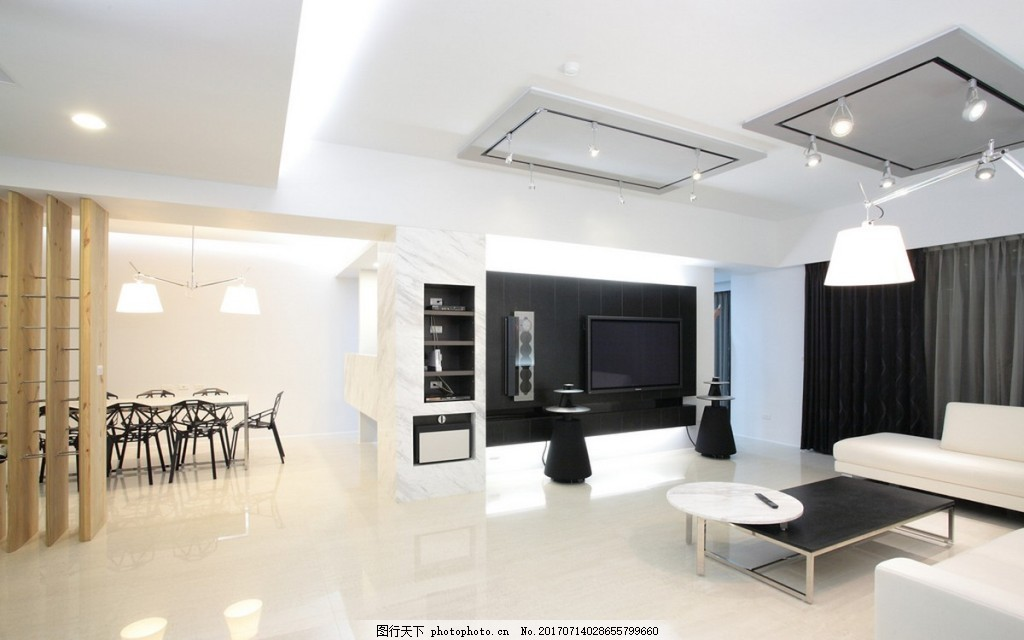 现代客厅背景墙效果图 室内设计 家装效果图 设计素材 现代装修