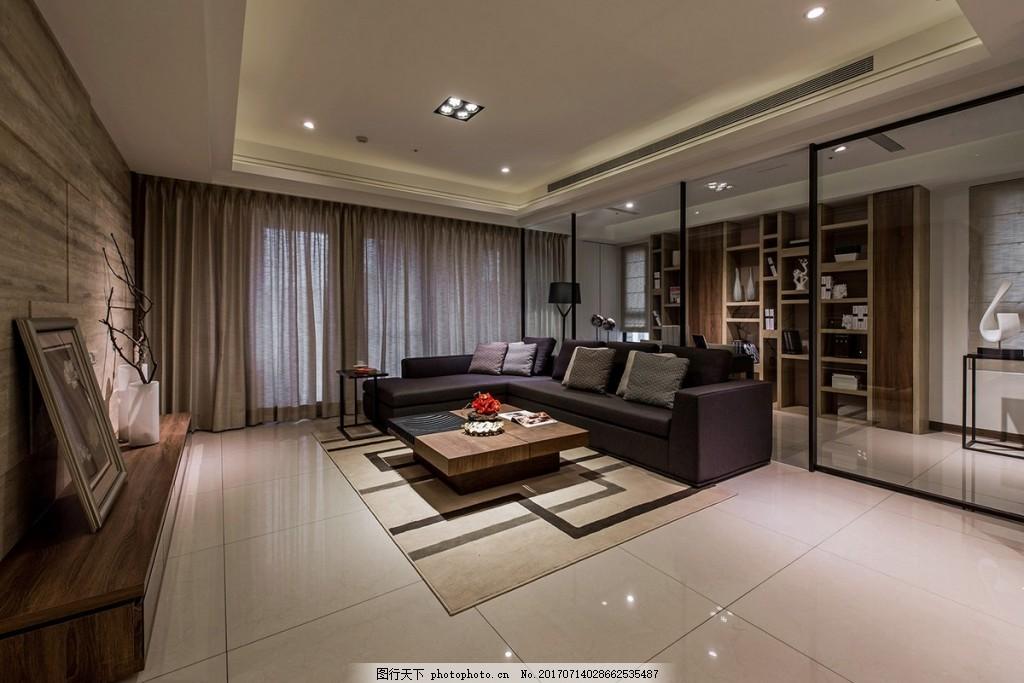 现代客厅背景墙效果图 家装效果图 设计素材 室内装修 现代装修