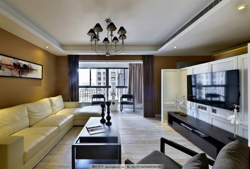 现代中式客厅装修效果图图片