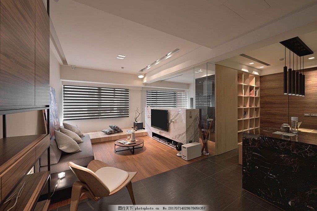简约客厅背景墙效果图 室内设计 家装效果图 壁纸 木质背景墙 木质