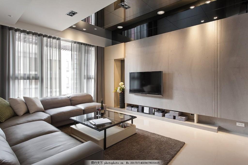 港式客厅背景墙效果图 室内设计 家装效果图 设计素材 室内装修