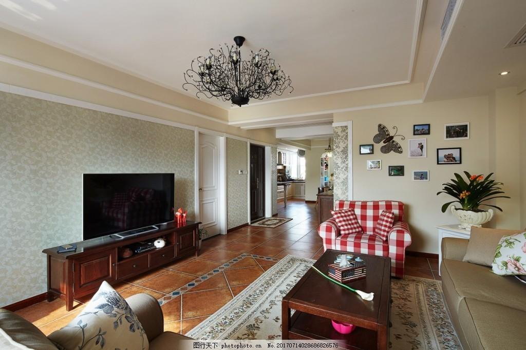现代中式客厅装修效果图 家装效果图 现代装修效果图 时尚 奢华