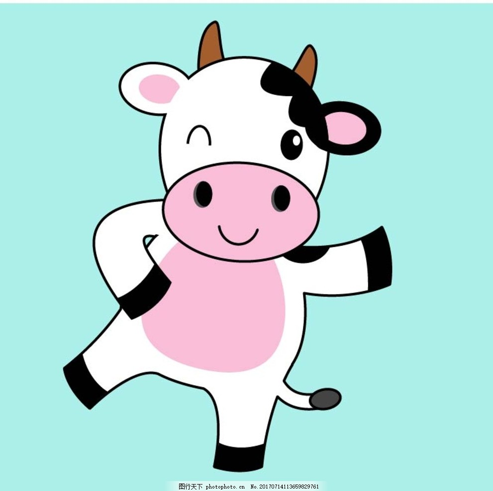扁平动物 矢量扁平动物 矢量图 卡通漫画 q版动物 贴纸 卡通兔子 设计