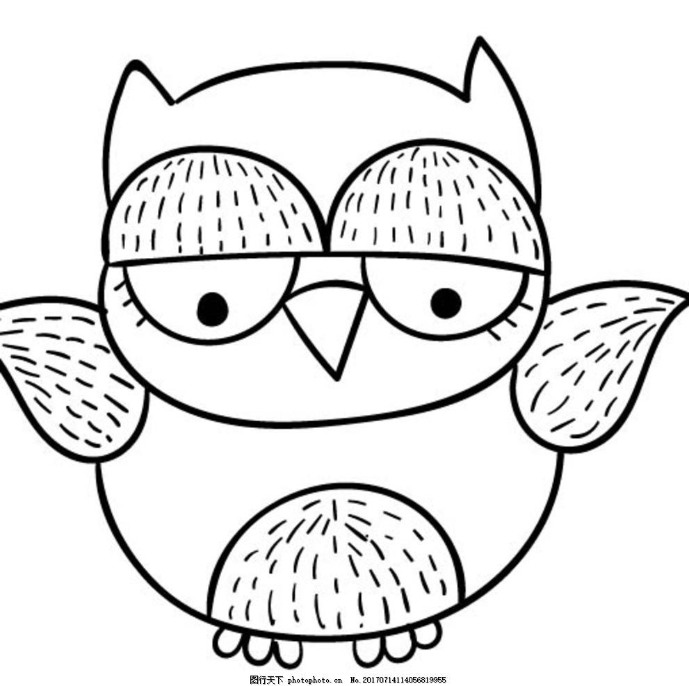 卡通猫头鹰 卡通动物 动漫卡通 可爱 贺卡 动物插画 插画 儿童绘本