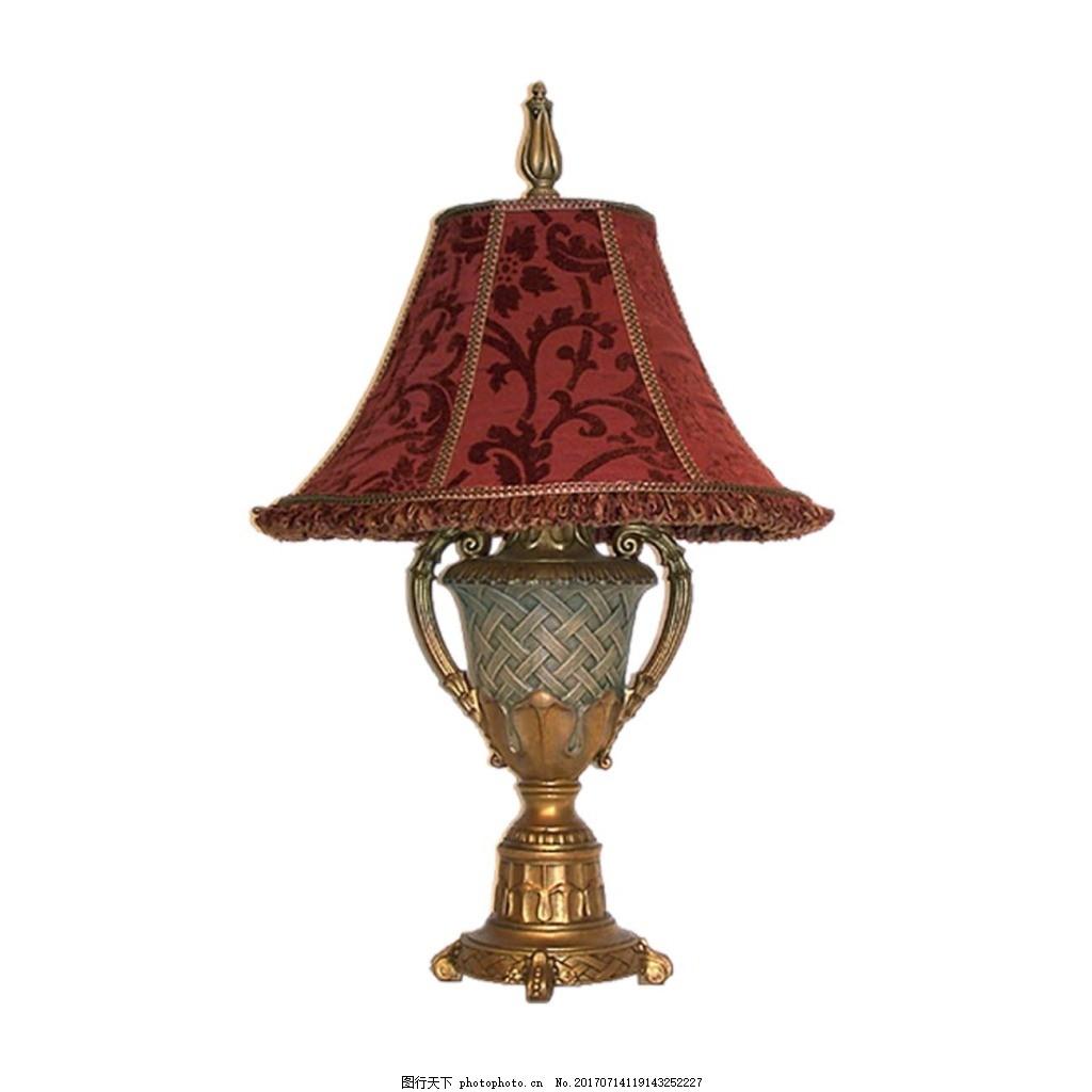 复古欧式台灯元素