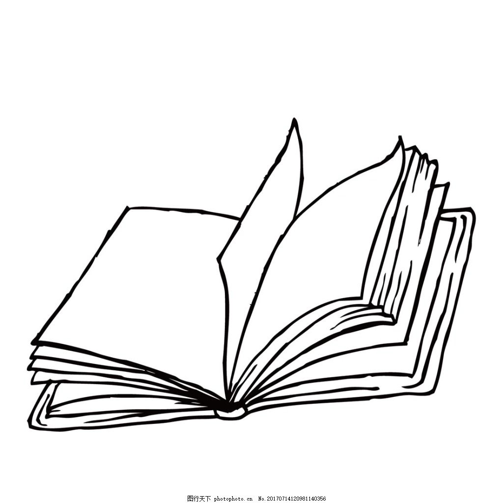 手绘线条书本元素