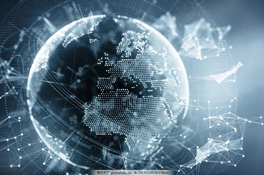 唯美 炫酷 电子 电子地球 全球通信 背景 科技 设计 底纹边框 背景