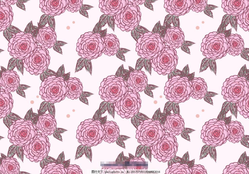 创意唯美手绘山茶花花卉背景
