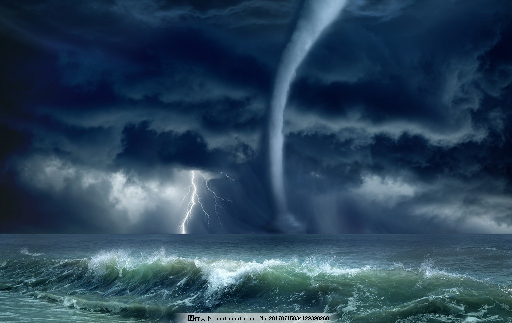 唯美 炫酷 风景 风光 自然 龙卷风 飓风 风暴 摄影 自然景观 自然风景