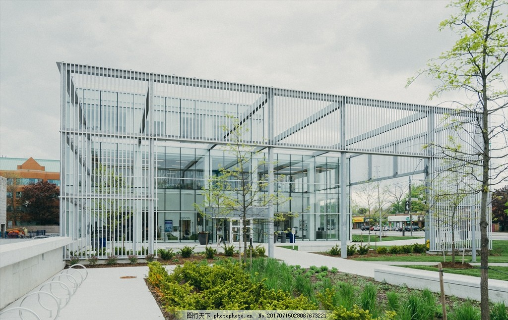 玻璃房 房子 透明 办公室 透明建筑 室内 摄影 人文 建筑园林