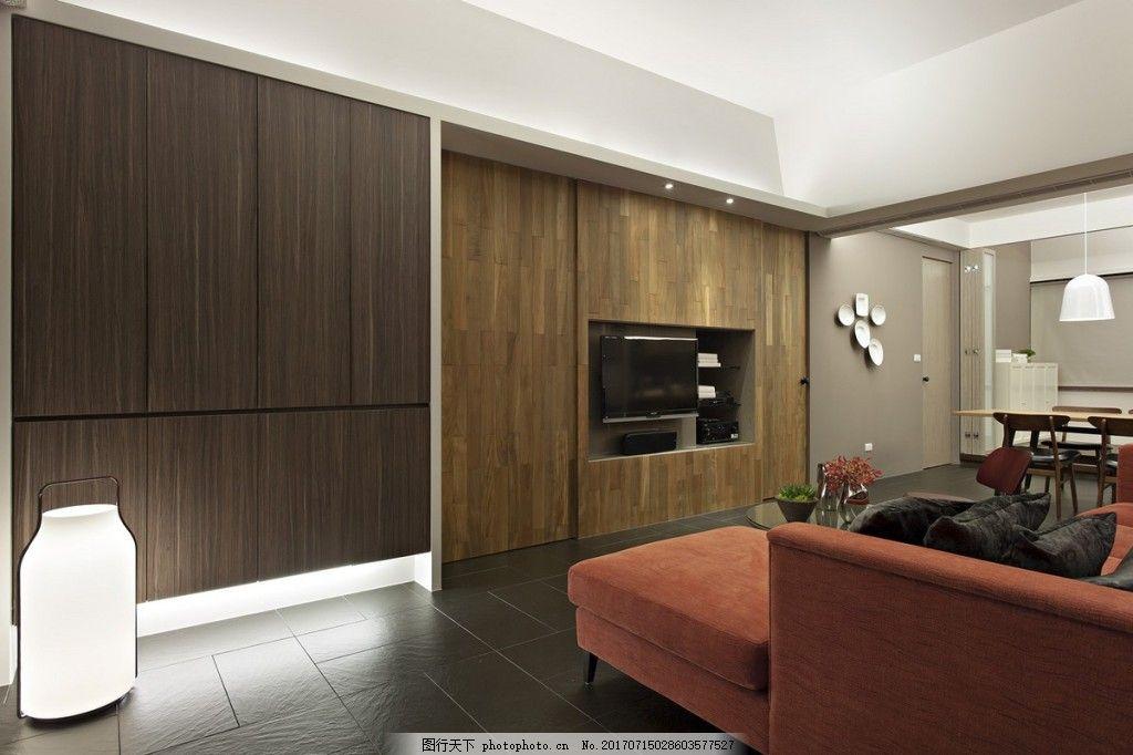 北欧客厅木质背景墙效果图 室内设计 家装效果图 客厅背景墙 家居背景图片