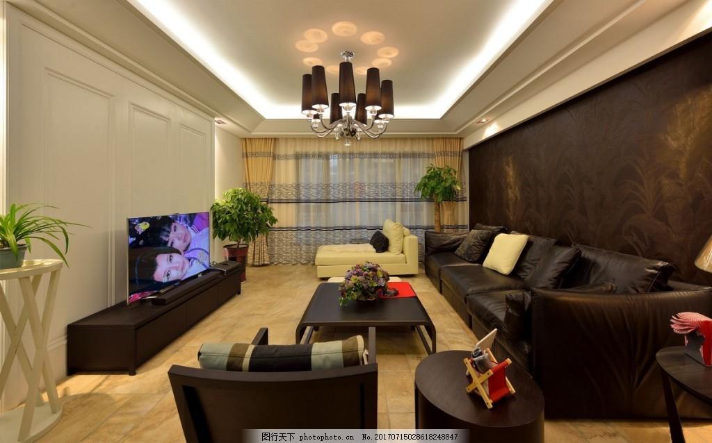 简约客厅背景墙效果图 室内设计 家装效果图 设计素材 室内装修