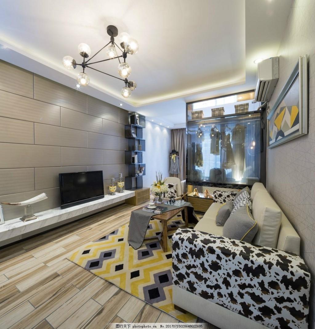 中式简约客厅背景墙效果图 室内设计 家装效果图 设计素材 现代装修