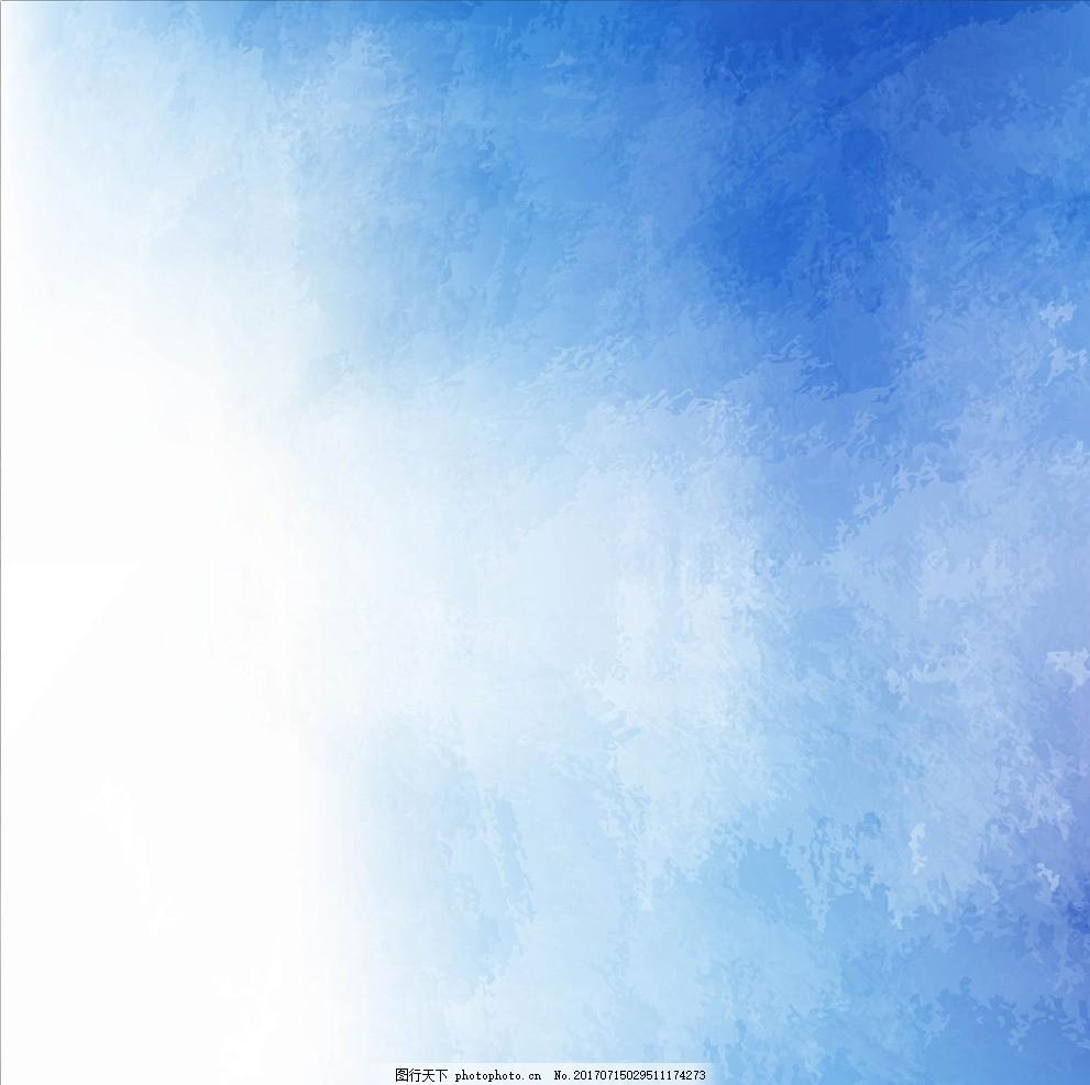 天空水粉手绘图片大全