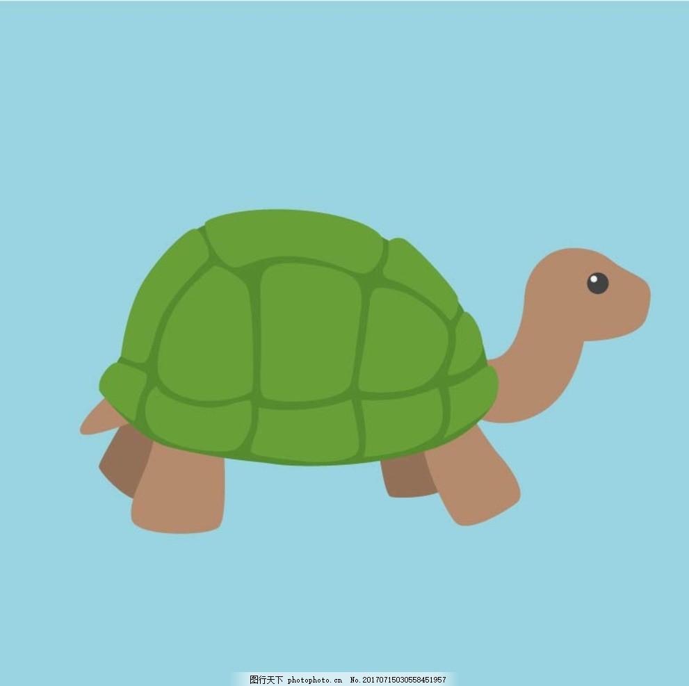 卡通乌龟 卡通动物 动漫卡通 可爱 贺卡 动物插画 插画 儿童绘本 儿童