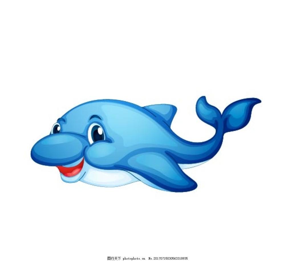 卡通海豚 卡通动物 动漫卡通 可爱 贺卡 动物插画 儿童绘本 儿童画画