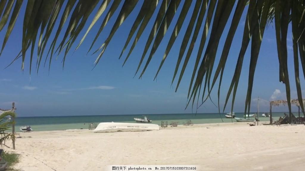 热带沙滩风景视频 视频背景 视频素材 视频模版 热带风景视频