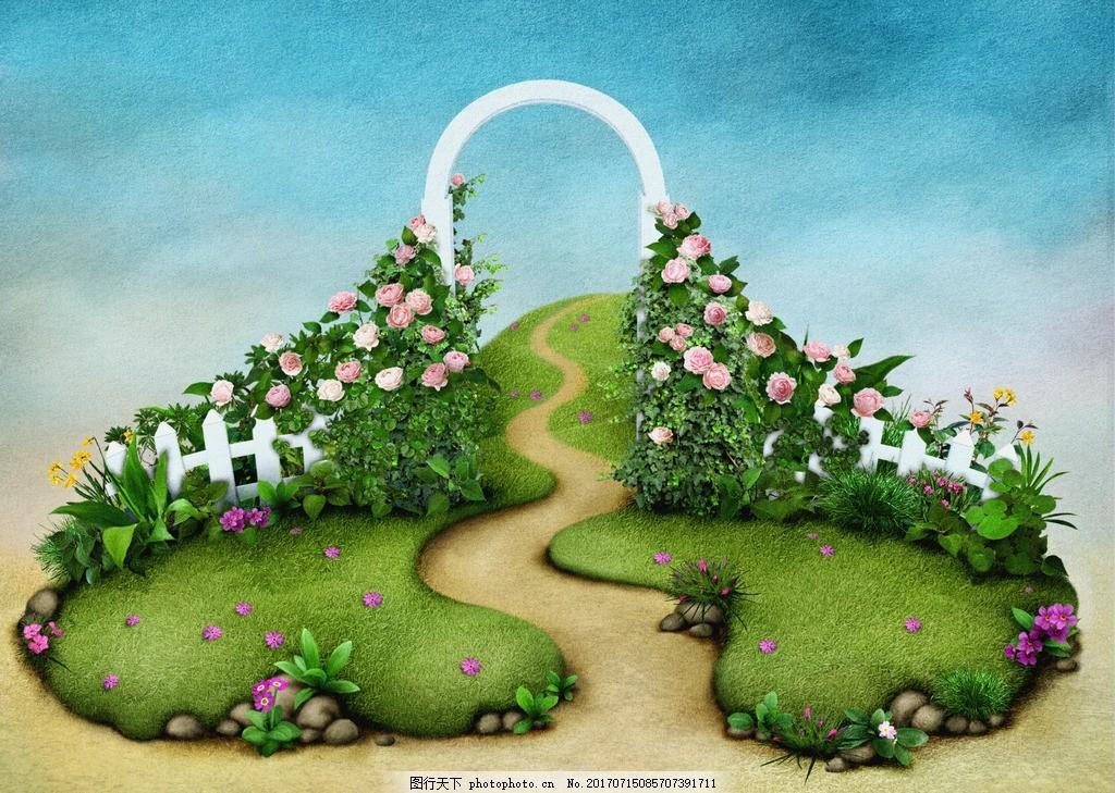 童话背景 唯美 炫酷 浪漫 童话森林 梦幻 可爱童话 底纹边框