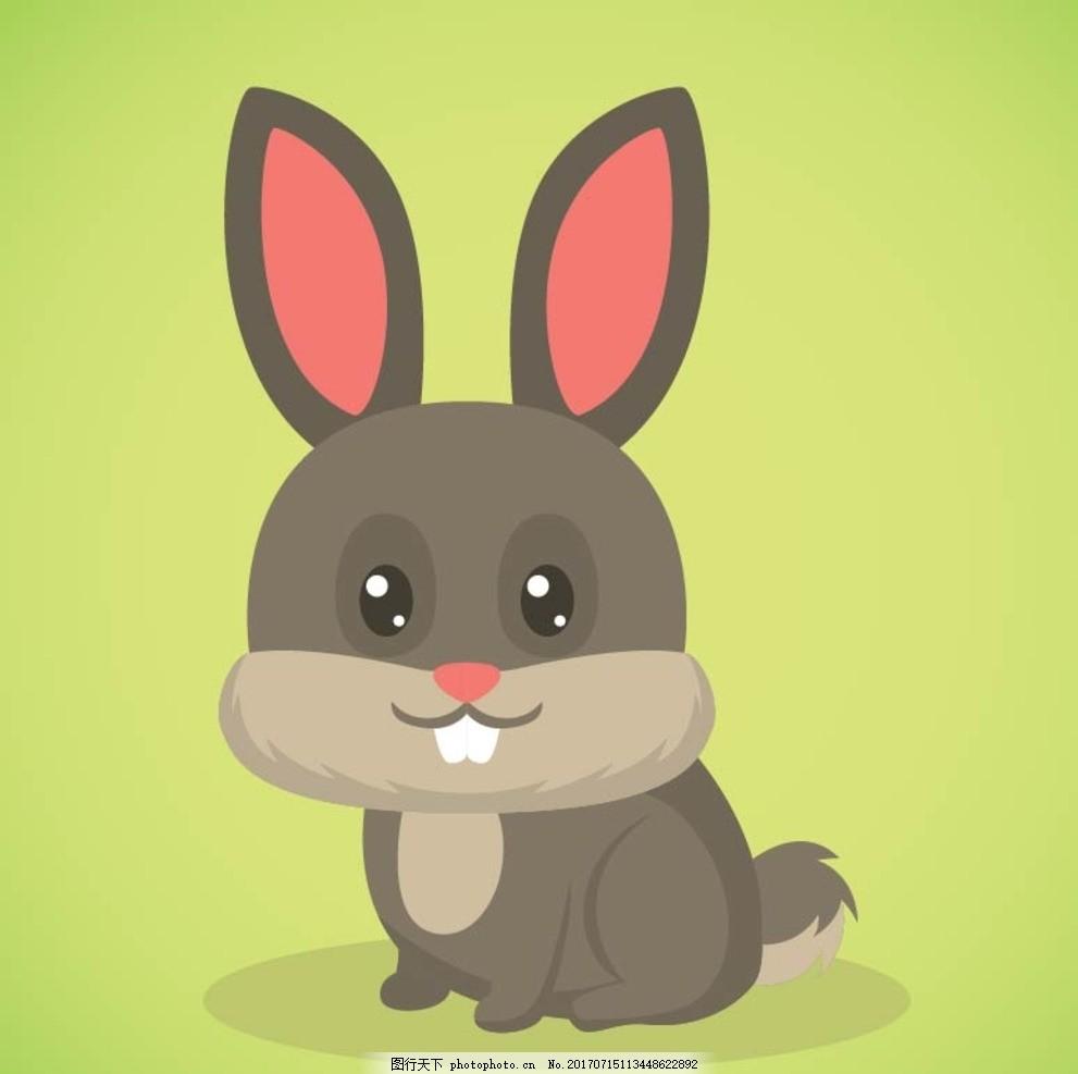 卡通兔子 卡通动物 动漫卡通 可爱 贺卡 动物插画 插画 儿童绘本 儿童