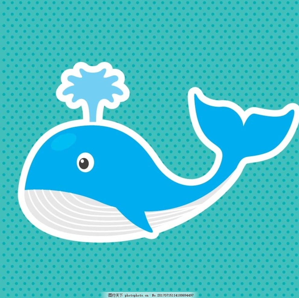 卡通鲸鱼 卡通动物 动漫卡通 可爱 贺卡 动物插画 插画 儿童绘本 儿童