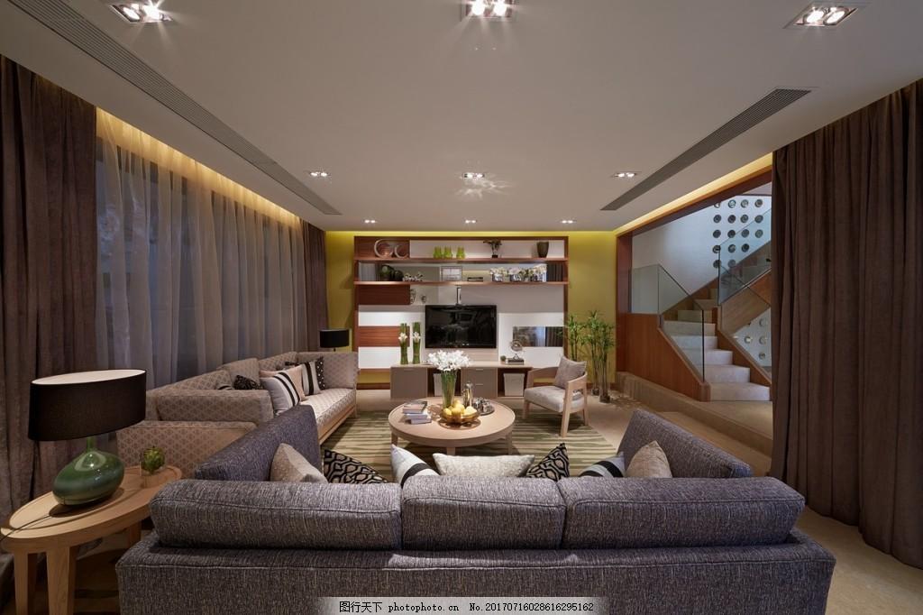 简约客厅背景墙效果图 室内设计 家装效果图 室内装修 现代装修