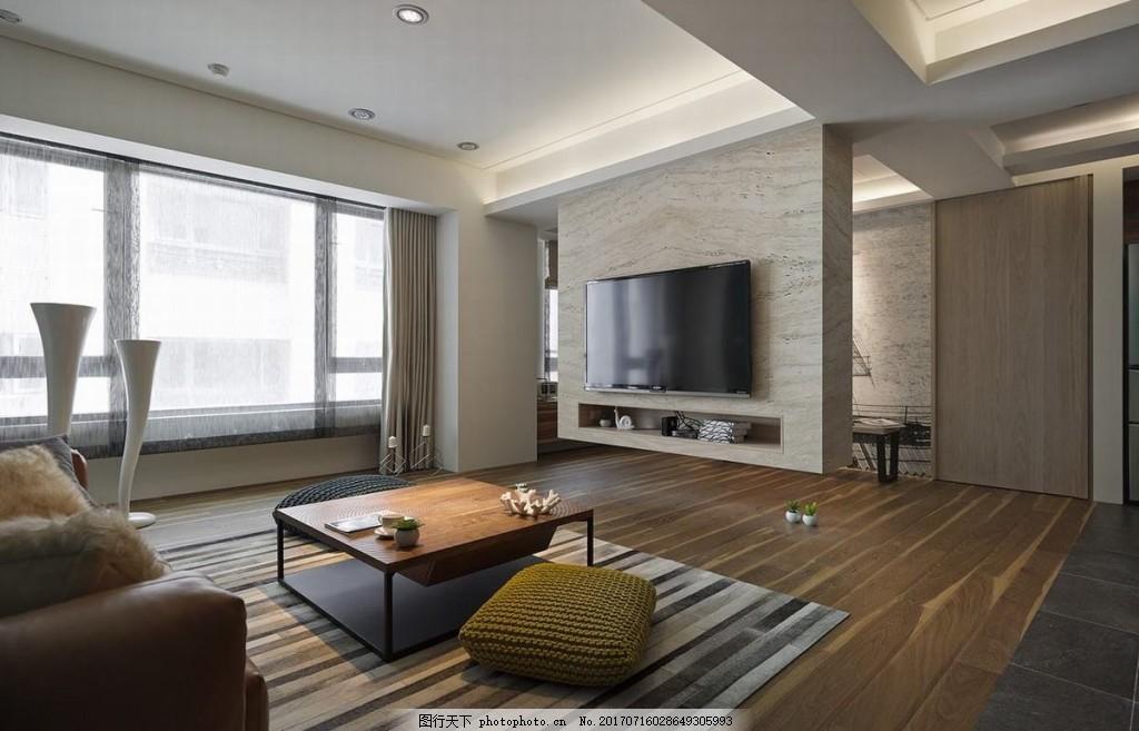 简欧式客厅背景墙效果图 家装效果图 设计素材 室内装修 现代装修