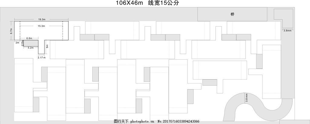 科目二场地平面图 s弯 侧方停车 直角弯 半坡起步 科目二场地 设计