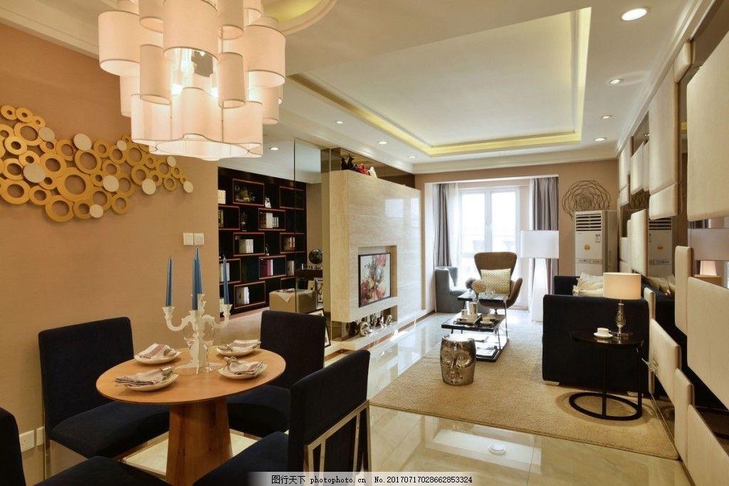 美式客厅背景墙效果图 室内设计 家装效果图 家居背景墙 现代家居