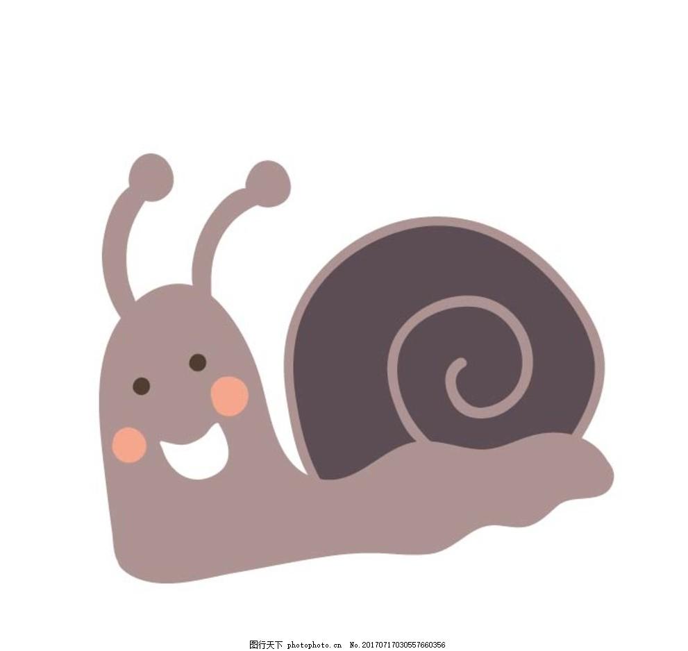 卡通蜗牛 卡通动物 动漫卡通 可爱 贺卡 动物插画 插画 儿童绘本 儿童