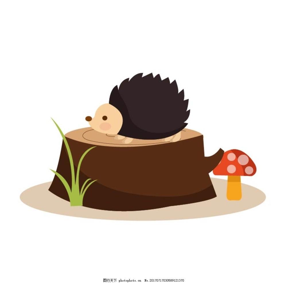 卡通刺猬 卡通动物 动漫卡通 可爱 贺卡 动物插画 插画 儿童绘本 儿