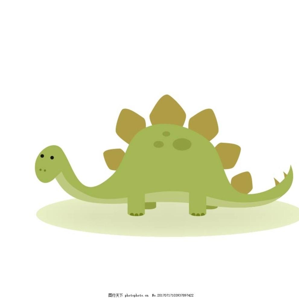 恐龙 卡通动物 动漫卡通 可爱 贺卡 动物插画 插画 儿童绘本 儿童画画
