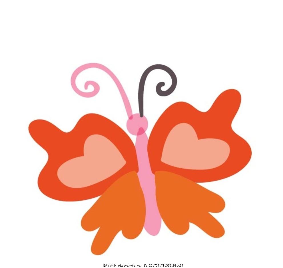 卡通蝴蝶 卡通动物 动漫卡通 可爱 贺卡 动物插画 插画 儿童绘本 儿童