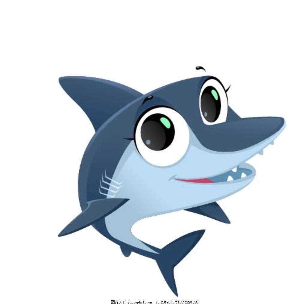 卡通鲨鱼 卡通动物 动漫卡通 可爱 贺卡 动物插画 插画 儿童绘本 儿童