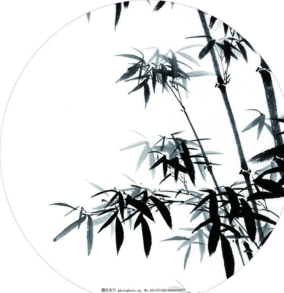 国画 国画竹子 竹子 背景墙 扇面 设计 文化艺术 绘画书法 72dpi jpg