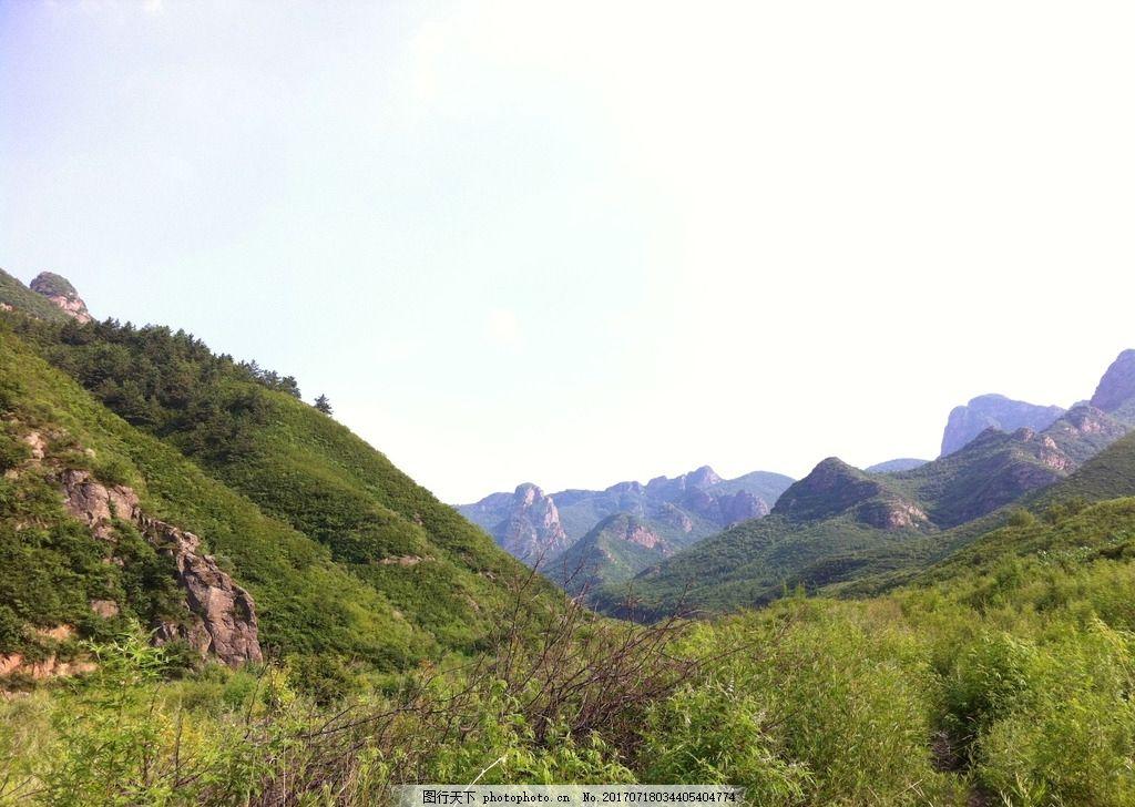 白草洼 滦平县 森林公园 大山 绿树 天空 摄影图片 摄影 自然景观