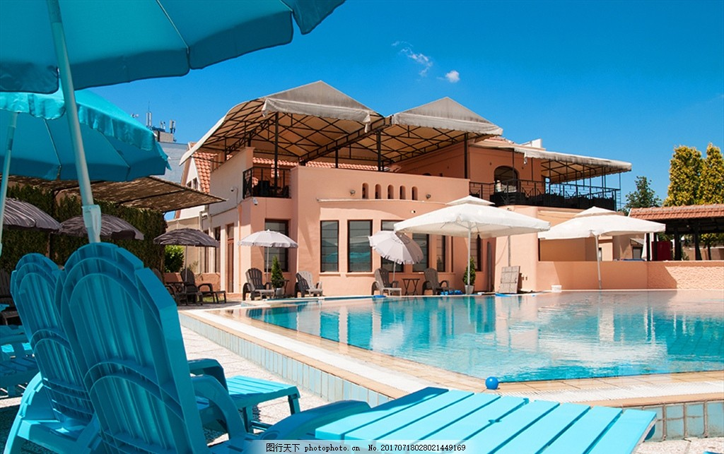 别墅的游泳池