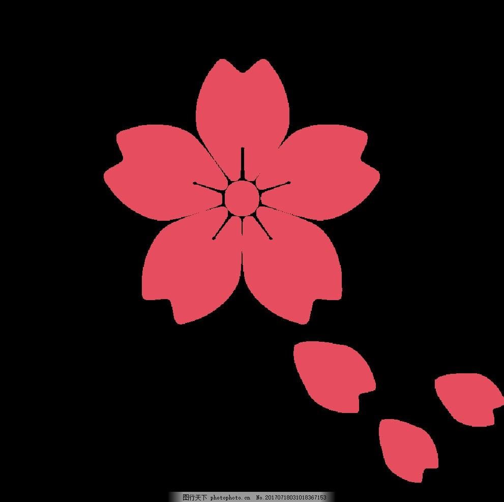 樱花 矢量樱花 矢量花瓣 樱花花瓣 花瓣 粉红色 日本 日本国花 日系