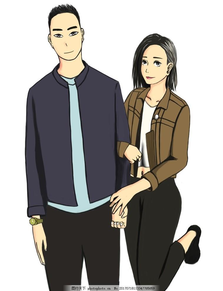 手绘情侣照 手绘 情侣合照 动漫 设计 原创 设计 动漫动画 动漫人物