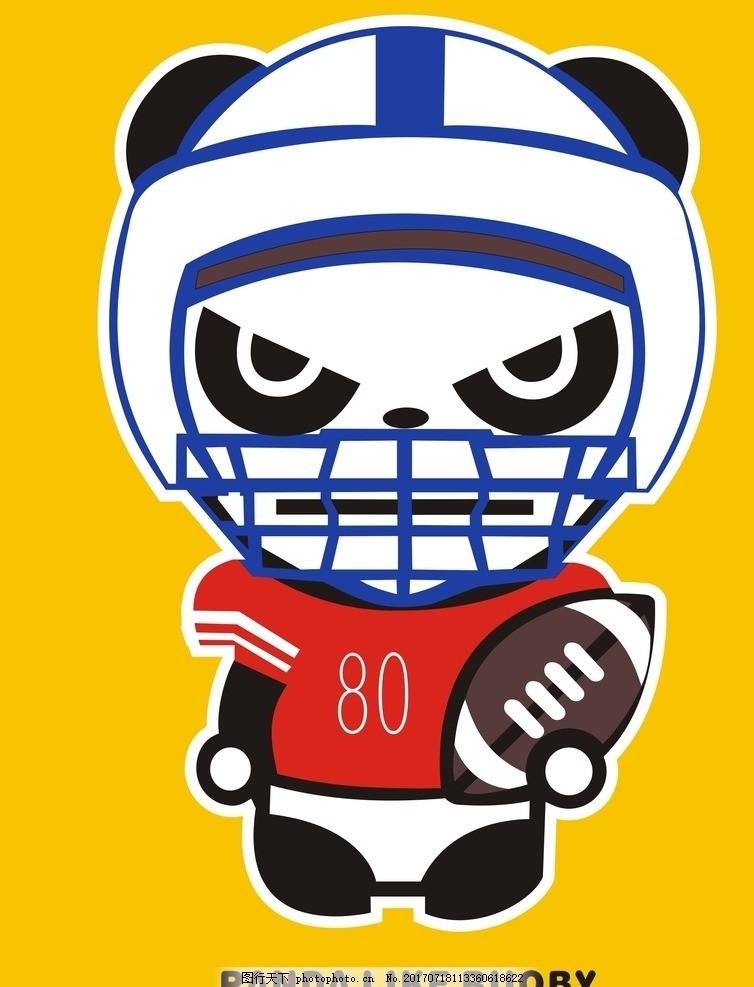 卡通熊猫 潮牌 潮流 插画 手绘 动漫动画 动漫人物