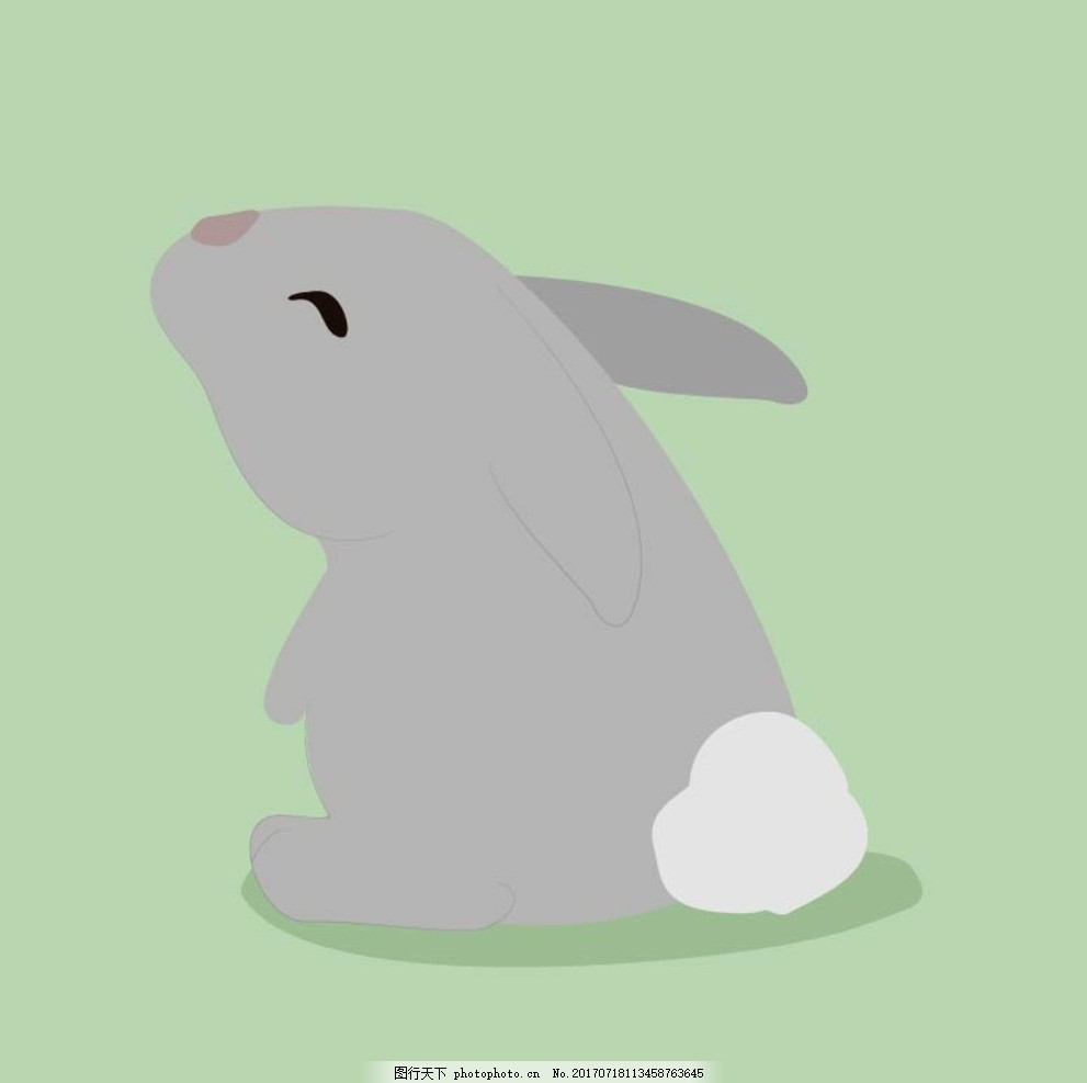 卡通兔子 卡通动物 动漫卡通 可爱 贺卡 动物插画 儿童绘本 儿童画画
