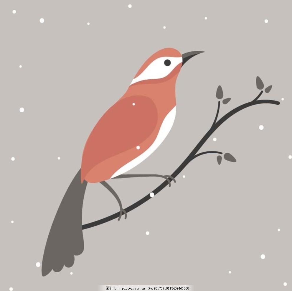 童画画鸟_卡通鸟 卡通动物 动漫卡通 可爱 贺卡 动物插画 儿童绘本 儿童画画