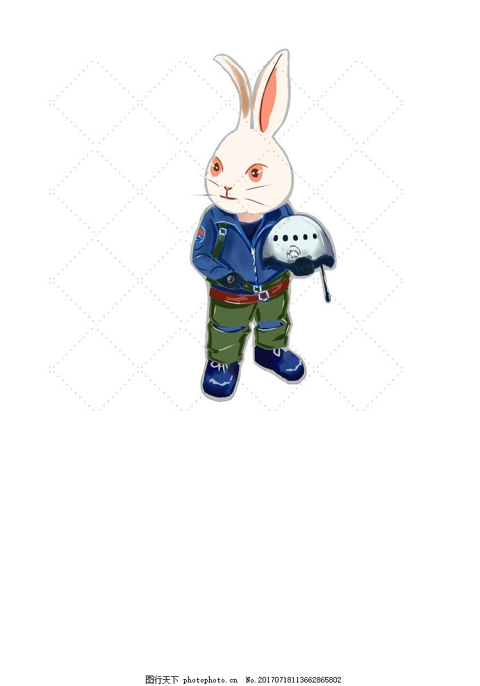 空军兔子 八一 空军 兔子 军装 卡通 可爱 设计 动漫动画 动漫人物
