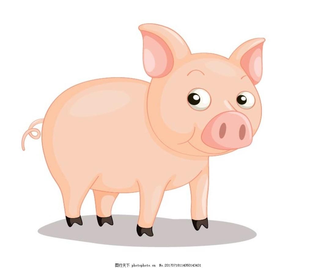 卡通猪 卡通动物 动漫卡通 可爱 贺卡 动物插画 儿童绘本 儿童画画