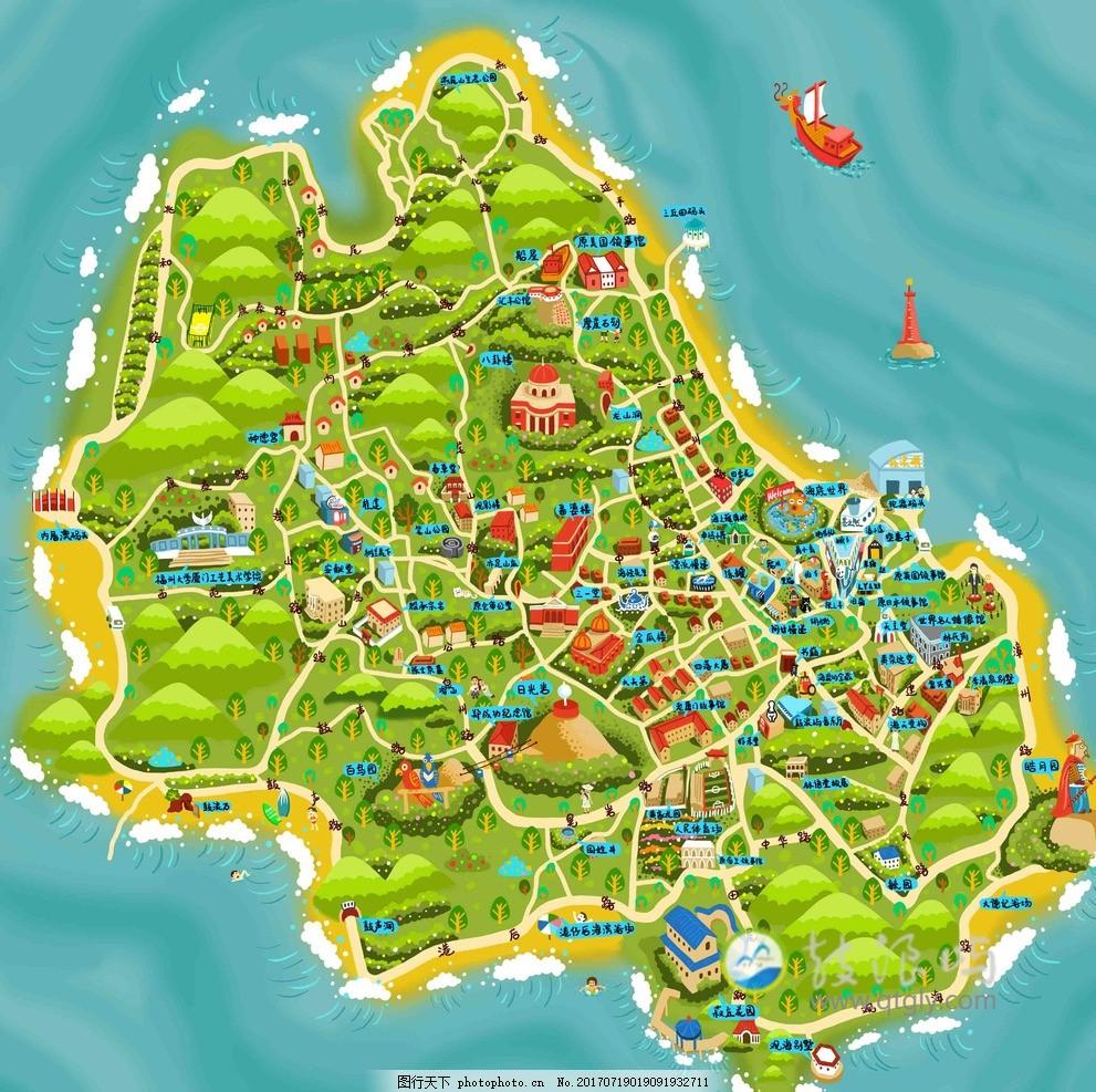 福州手绘地图