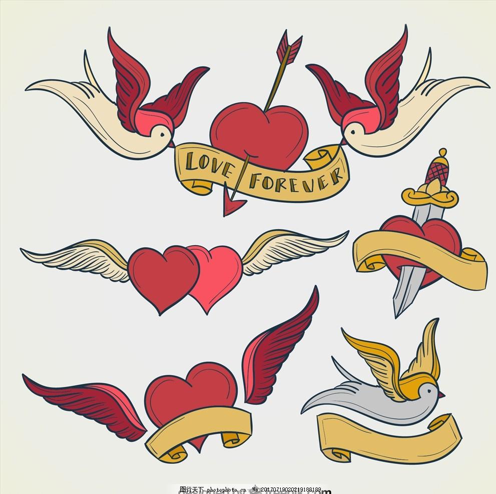 老鹰 花鸟图 布料印花 手绘花卉 小鸟 手绘鸟 儿童画 翠鸟 卡通小鸟