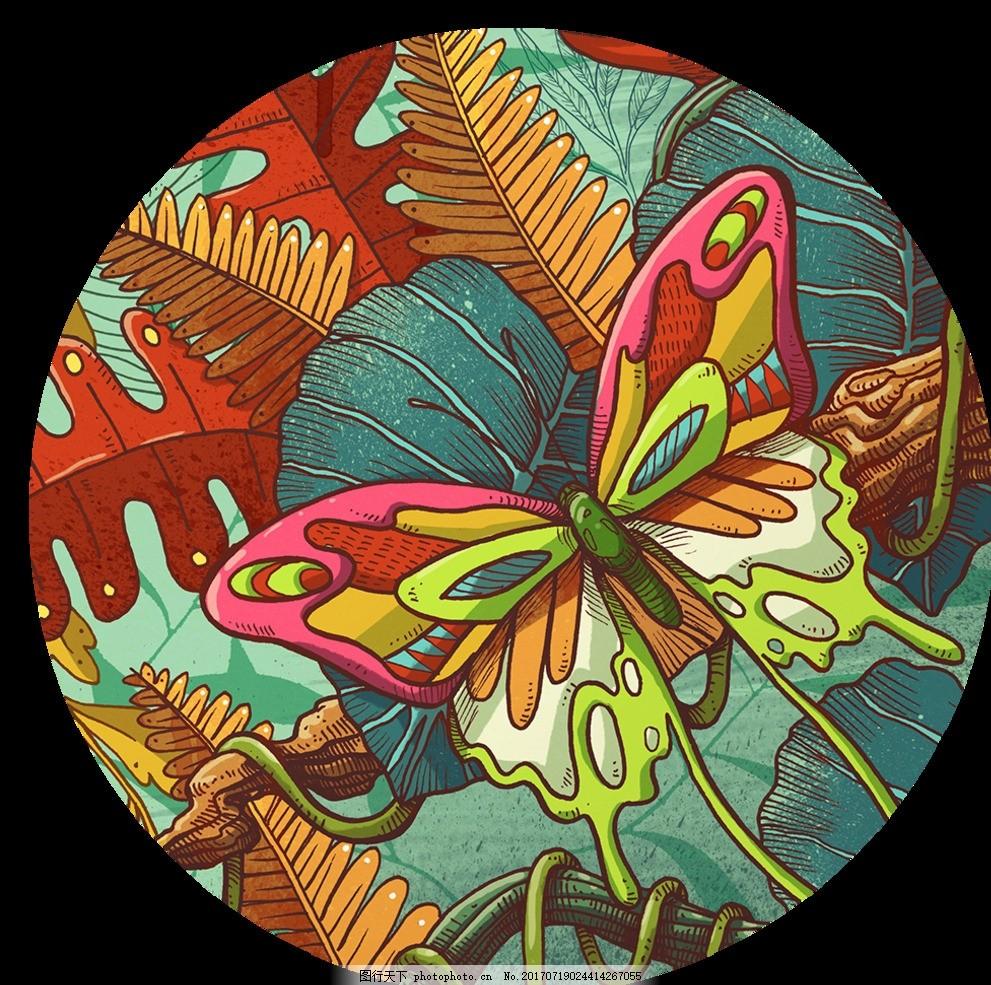 蝴蝶 脸谱 插画 动物 动漫动画 风景漫画 创意 科技动漫