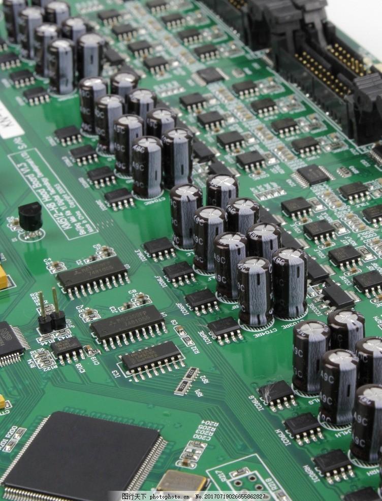 高清电路板摄影素材,电器元件 元器件 照片 高科技-图