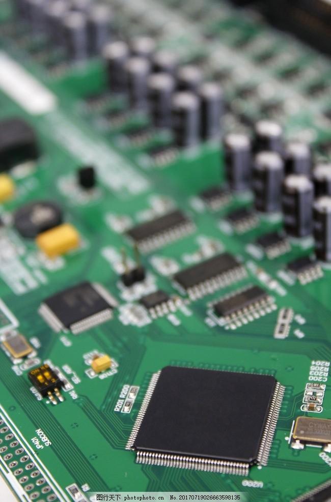 高清电路板摄影素材 电器元件 元器件 照片 高科技 设计素材 工业摄影