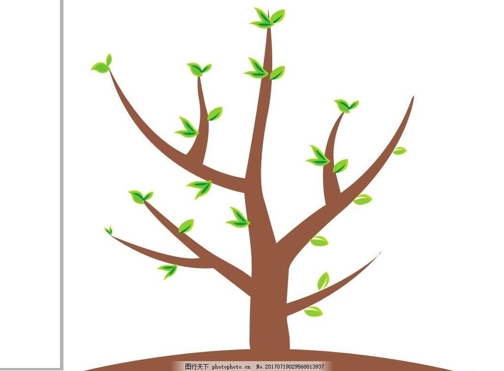 简笔画 简笔树 小树 绿叶 春天素材 环保素材 环保 设计 广告设计