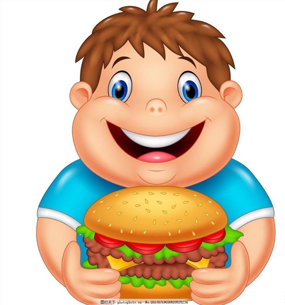 卡通人物 可爱 卡通 人物 汉堡 汉堡包 装饰 快餐店 新品 海报 招贴